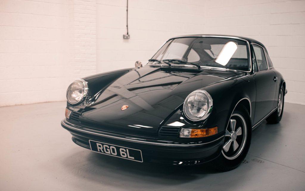 Porsche 911 2.4S in car storage