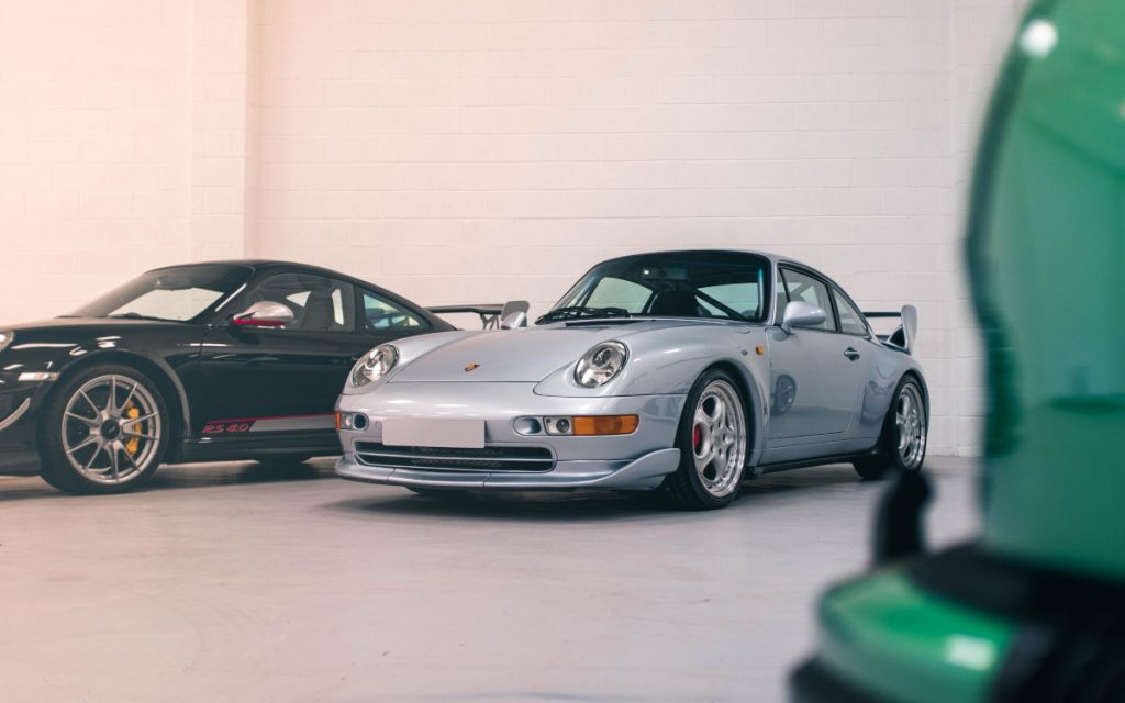 Porsche 993 RS in car storage