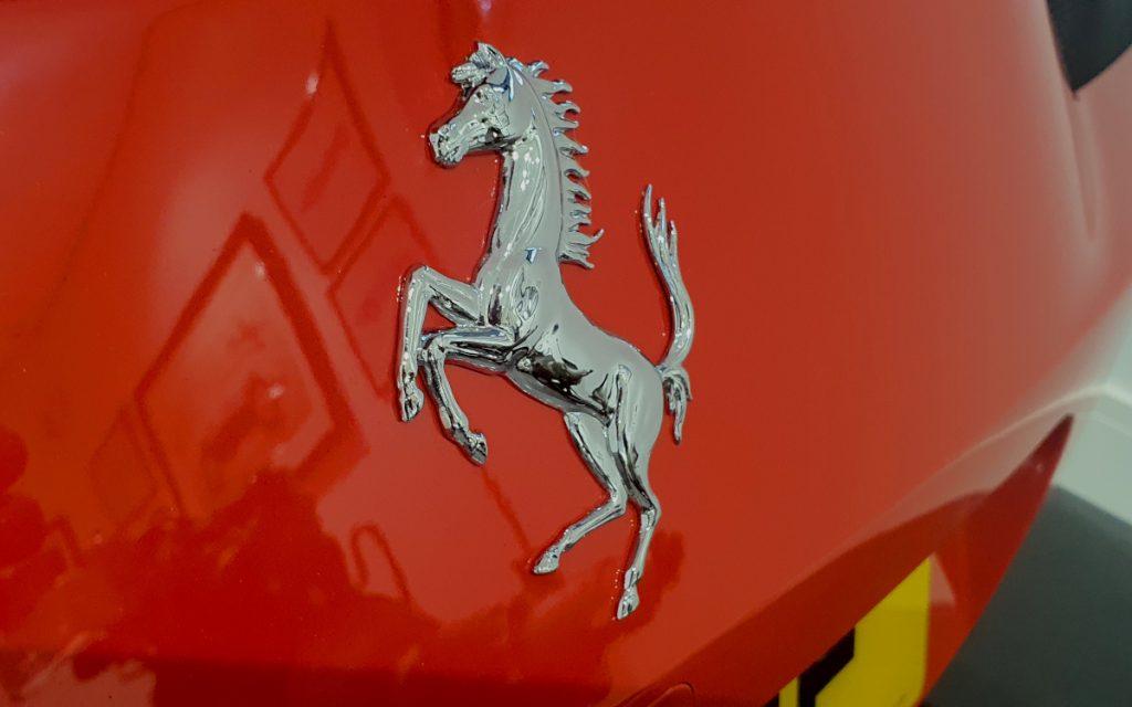Ferrari Cavalino on a 458 Speciale