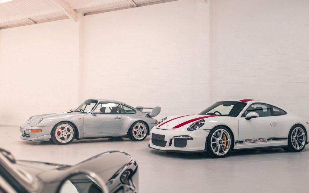 Porsche 911R in car storage